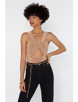 Pull Up At The Party Cut Out Bodysuit by Nasty Gal