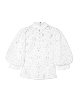 Broderie Anglaise Cotton Blouse by Ganni