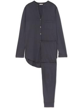 Mercerized Cotton Pajama Set by Hanro