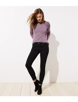 Modern Frayed Skinny Jeans In Black by Loft
