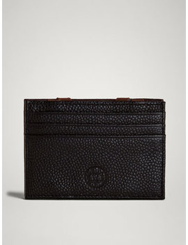 Limited Edition Embossed Leather Magic Card Holder by Massimo Dutti