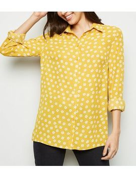 Yellow Ditsy Floral Print Shirt by New Look