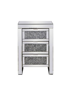 Uriel Crystal 3 Drawer Nightstand by Rosdorf Park