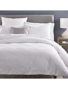 Wavy Jacquard Duvet Cover + Shams by West Elm