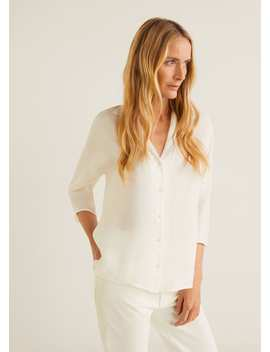 Chemise Soft Col Revers by Mango