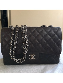 Chanel Classic Jumbo Single Flap Caviar Shwpreowned/Used by Chanel