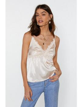Trim The Lights Satin Cami Top by Nasty Gal