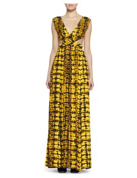 Cutout Tie Dye Maxi Dress by Proenza Schouler