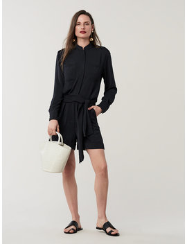 Leone Belted Romper by Dvf