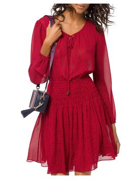 Heart Print Peasant Dress by Michael Michael Kors