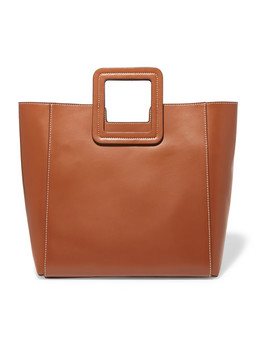 Shirley Leather Tote by Staud