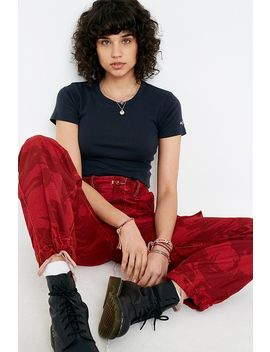 urban-renewal-remade-red-overdyed-camo-trousers by urban-renewal