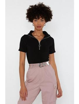 pull-yourself-together-zip-ribbed-bodysuit by nasty-gal