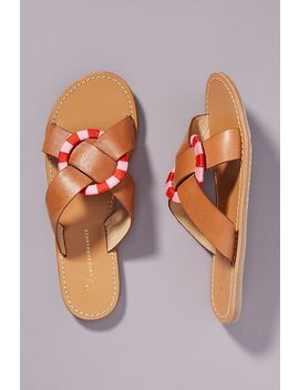 Anthropologie Sara Criss Cross Slide Sandals by Anthropologie