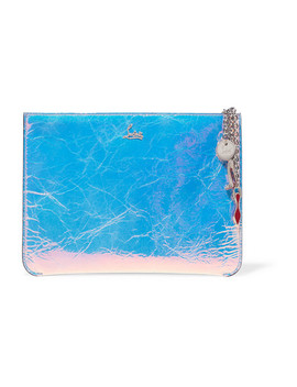Loubicute Iridescent Textured Leather Clutch by Christian Louboutin