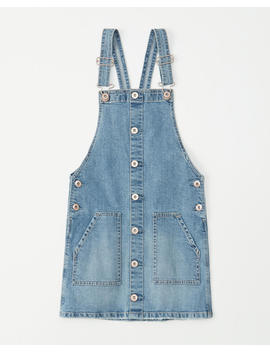 Denim Pinafore Dress by Abercrombie & Fitch