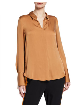 Rayne Long Sleeve Collared Silk Blouse by Kobi Halperin