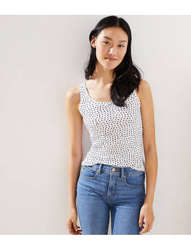 Polka Dot Essential Tank by Loft
