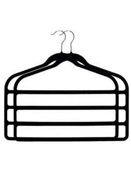 Huggable Hangers 2pc 4 Bar Hangers   Black by Huggable Hangers