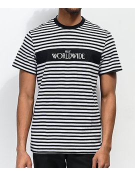 Huf Archive Black &Amp; Grey Striped T Shirt by Huf