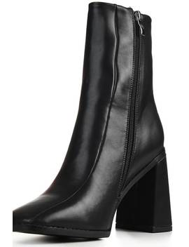 Black Flared Heel Ankle Boots by I Saw It First