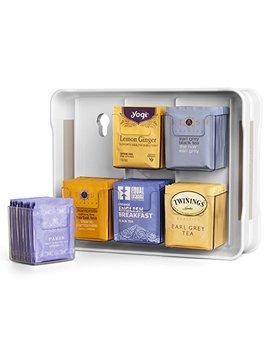 You Copia 06121 31 Wht Tea Stand 100+ Tea Bag Organizer, White by You Copia