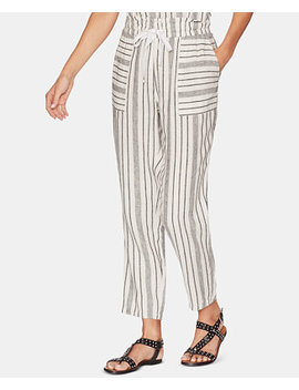 Striped Slim Leg Pants by Vince Camuto