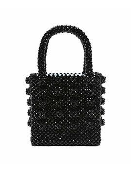 Shrimps Women's Antonia Beaded Bag Black by Shrimps