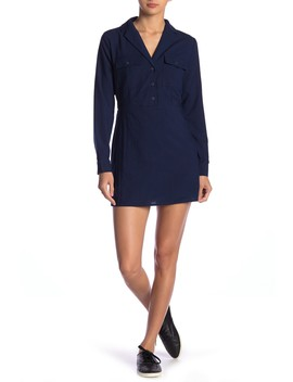 Long Sleeve Notch Collar Dress by Emory Park