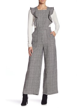 Plaid Ruffle Jumpsuit by Do + Be