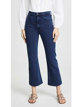 Empire Crop Flare Jeans by 3x1