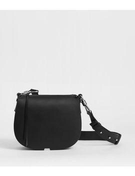 Captain Leather Round Crossbody Bag by Allsaints