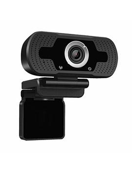 Dericam 1080 P Full Hd Live Streaming Webcam, Usb Desktop And Laptop Webcam, Mini Plug And Play Video Calling Computer Camera, Built In Mic, Flexible Rotatable Clip, W2, Uk, Black by Dericam