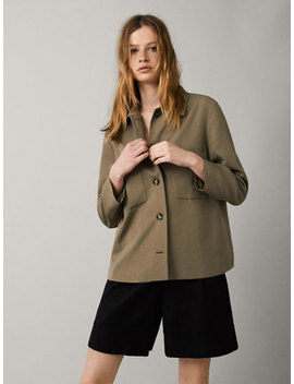 Overshirt With Pockets by Massimo Dutti