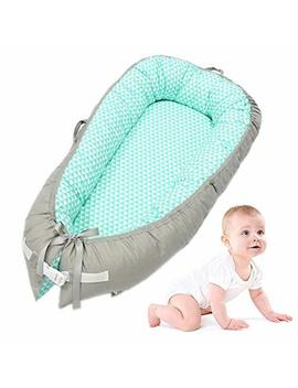 Baby Lounger, Leegoal Portable Super Soft And Breathable Newborn Infant Bassinet,Water Resistant Removable Cover For Newborn Lounger by Leegoal