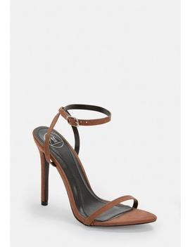 Tan Pointed Toe Barely There Heels by Missguided