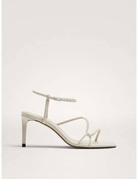 Sandals With Heel And Tubular Straps by Massimo Dutti