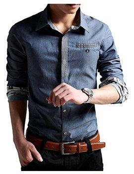 xtapan-mens-oxford-casual-shirt-long-sleeve-button-down-dress-shirt-slim-fit by xtapan