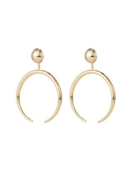 The Factory Open Hoop Drop Earrings by Jenny Bird