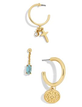 Perseus Huggies/Stud Earrings   Set Of 3 by Baublebar