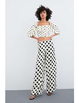 Polka Dot Cropped Top  Topswoman by Zara