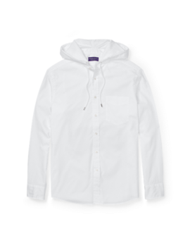 Washed Oxford Hooded Shirt by Ralph Lauren