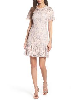 lace-ruffle-hem-minidress by charles-henry