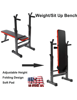 Adjustable Foldable Weight Bench Gym Workout Home Fitness Exercise Lifting Press by Unbranded