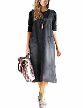 innifer-womens-plus-size-loose-casual-strap-jean-denim-overall-dress by innifer