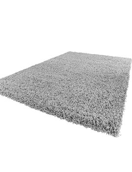 Lord Of Rugs Soft Shaggy Silver Grey Modern Thick Rug 8 60 X 100 Cm (2' X 3'3'') by Amazon