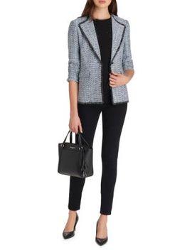 Notched Tweed Jacket by Karl Lagerfeld Paris