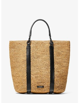 Antibes Extra Large Raffia Tote by Michael Kors Collection