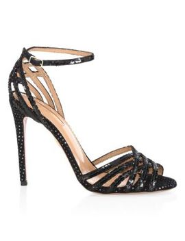 Studio Sequined Ankle Strap Sandals by Aquazzura