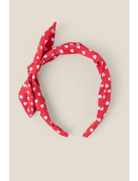 Jamiya Heart Print Headband by Francesca's
